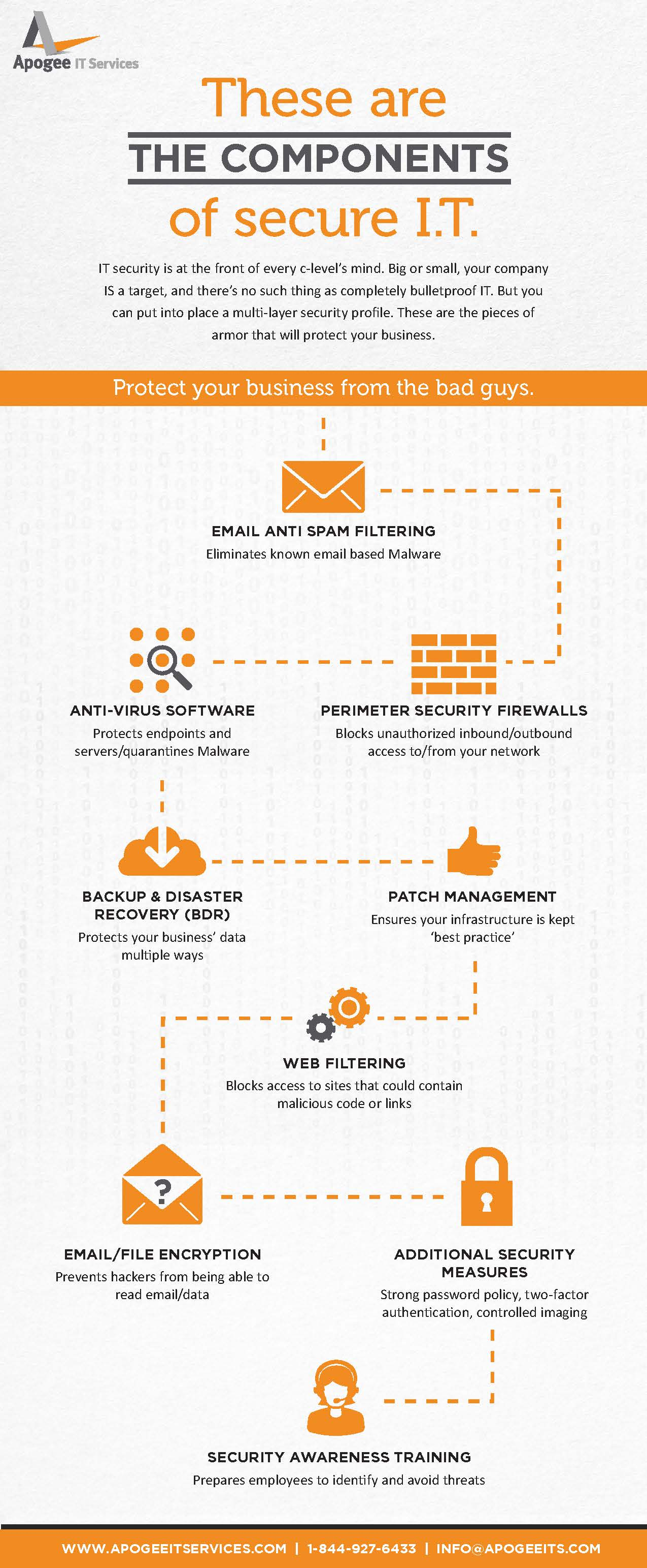 Apogee multi-layer IT security profile infographic