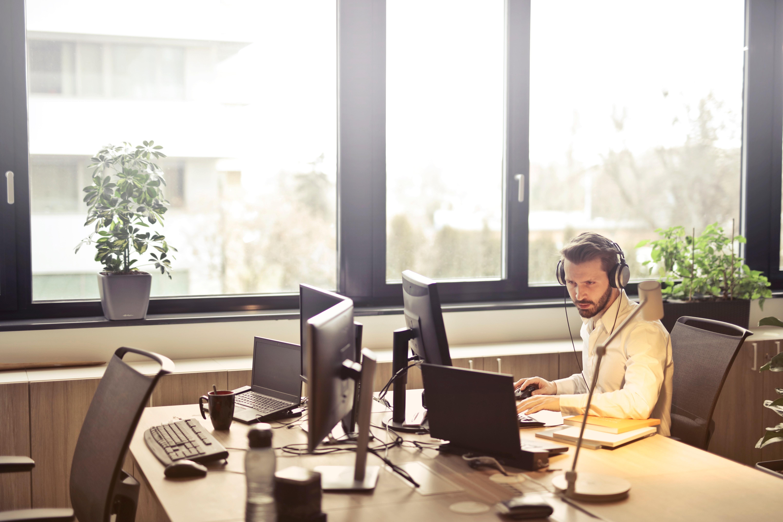 service provider at computer
