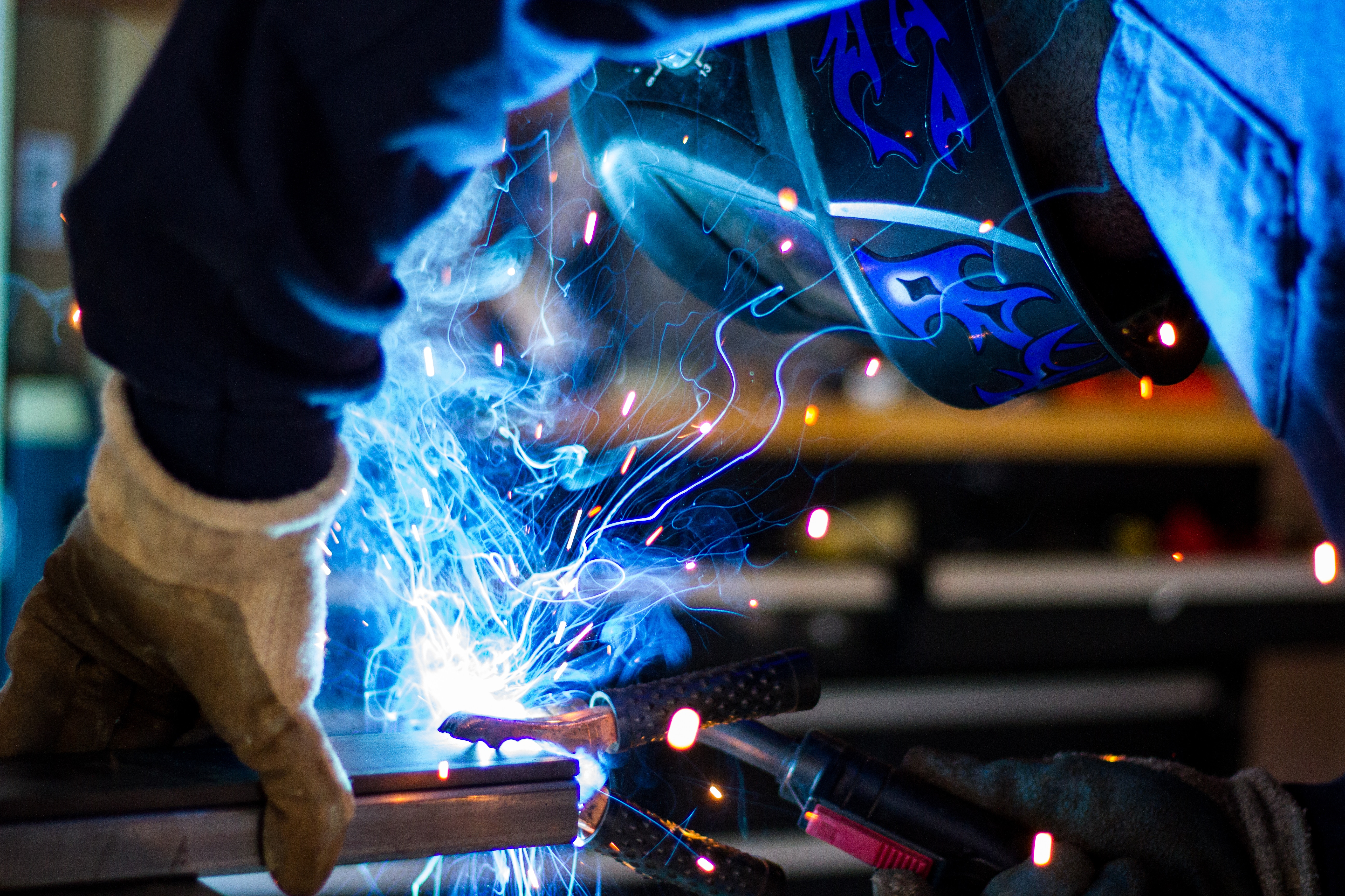 Manufacturing employee working